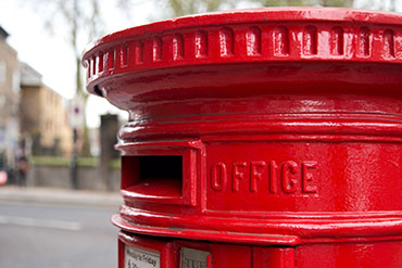 letter opening for a royal mail red postbox