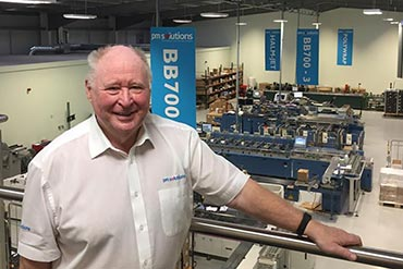 Ron Davidson overlooking the printing premises at PM Solutions